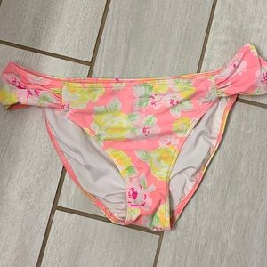 PINK Floral Bathing Suit Bottoms